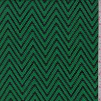 Kelly/Black Zig Zag Double Knit