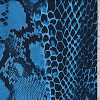 Ocean Blue/Midnight Snakeskin Rayon Jersey Knit