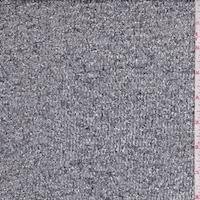 Metallic Silver Eyelash Stripe Organza
