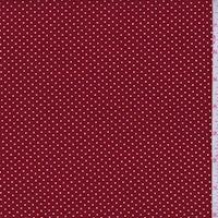 Deep Red/White Pin Dot Slinky Knit