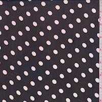 Black/Pale Pink Polka Dot Chiffon