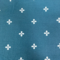 """*3 YD PC--Teal """"Daisy Dots"""" Cotton"""