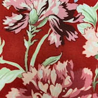 """*5 YD PC--Red """"Main Floral"""" Cotton"""