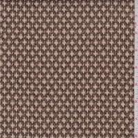 *1 5/8 YD PC--Mocha/Tan Wool Blend Ogee