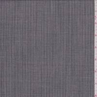 *4 1/4 YD PC--Charcoal/White Pinstripe Tropical Wool Suiting