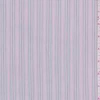 *4 5/8 YD PC--Stone Grey Multi Stripe Cotton Shirting