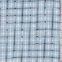*1 7/8 YD PC--Pastel Blue/White Check Cotton