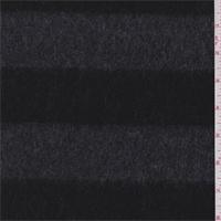 *7/8 YD PC--Black/Charcoal Stripe Wool Jacketing
