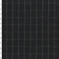 *2 7/8 YD PC--Bluestone Wool Windowpane Tweed