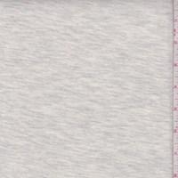 *1 7/8 YD PC--Heather Grey/Cream Rayon Jersey Knit