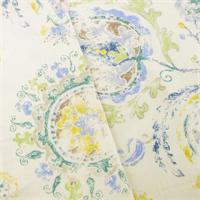 *2 7/8 YD PC--Ivory/Multi P Kaufmann Paisley Print Home Decorating Fabric