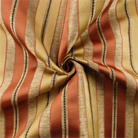 *2 6/8 YD PC--Beige/Multi Satin Stripe Home Decorating Fabric