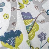 *1 1/4 YD PC--White/Multi P/Kaufmann Floral Print Home Decorating Fabric