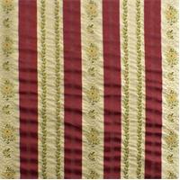*1 YD PC--Crimson/Multi Floral Stripe Home Decorating Fabric