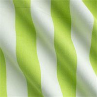 * 2 3/4 YD PC--Lime Green/White Cotton Stripe Home Decorating Fabric
