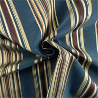 * 2 YD PC--Navy Blue/Multi Stripe Home Decorating Fabric
