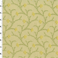 *4 5/8 YD PC--Springtime Green Norbar Henley Jacquard Decorating Fabric