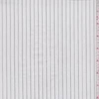 *2 YD PC--White/Silver Pinstripe Cotton Shirting