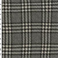 *1 1/4 YD PC--Brown/Ivory Wool Glenplaid Coating
