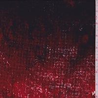 Maroon/Ruby/Black Granite Look Silk Crepe de Chine
