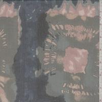 Sage/Ocean/Beige Batik Large Square Silk Crinkle Chiffon