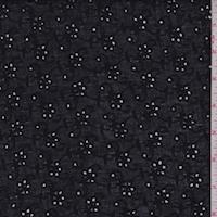Black Floral Eyelet Lawn