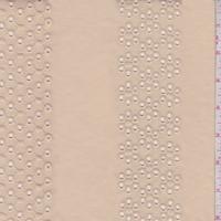 Sandy Beige Eyelet Stripe Cotton