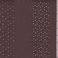Dark Brown Eyelet Stripe Cotton