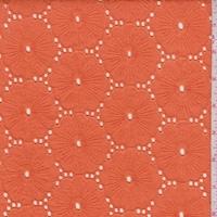 Orange Embroidered Floral Eyelet