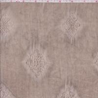 Timber Brown Leno Diamond Rayon Lawn
