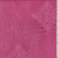 Berry Red Embroidered Diamond Rayon Lawn