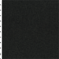 *1 7/8 YD PC--Black/Gray Texture Basketweave Home Decorating Fabric