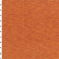 *1 1/8 YD PC--Orange Cotton Texture Woven Home Decorating Fabric