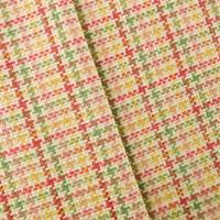 *3 1/8 YD PC--Ivory/Multi Plaid Home Decorating Fabric