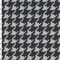 *1 YD PC--Navy/White Houndstooth Jacquard Home Decorating Fabric