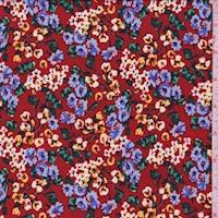 ITY Rust Orange Mini Floral Jersey Knit