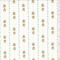 Ecru/Harvest Mini Floral Stripe Cotton