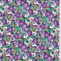 Purple/Lilac Floral Garden Cotton