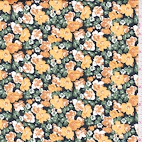 Squash/Pumpkin Floral Garden Cotton
