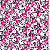 Berry/Pink Floral Garden Cotton