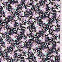 Black/Mint/Lilac Mini Floral Cluster Cotton