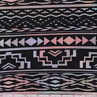 ITY Black Pastel Shadow Aztec Jersey Knit