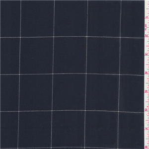 Navy Blue Check Wool Suiting 18908 Fashion Fabrics