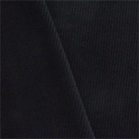 *1 YD PC--Black Wool Blend Brushed Twill Jacketing