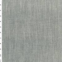 *2 1/2 YD PC--Black/White Slub Texture Linen Blend Shirting