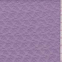 *3 1/2 YD PC--Lilac Mini Floral Cluster Eyelet
