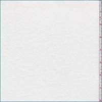 *2 3/8 YD PC--White Cotton Interlock  Knit