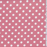 *1 YD PC--Clay Pink Dot Print Activewear Knit