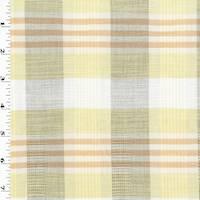 *2 1/2 YD PC--Yellow/Orange/Multi Cotton Plaid Shirting