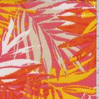 *3 YD PC--Multi Floral/Palm Scuba Knit